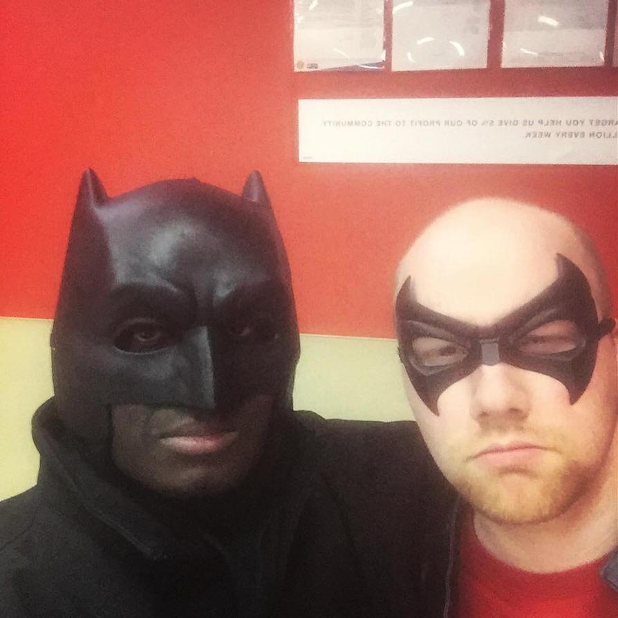 A Batman and Robin Selfie. by Kongzilla2010