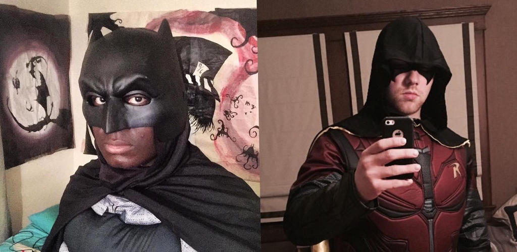 My friend and I as Batman and Robin. by Kongzilla2010