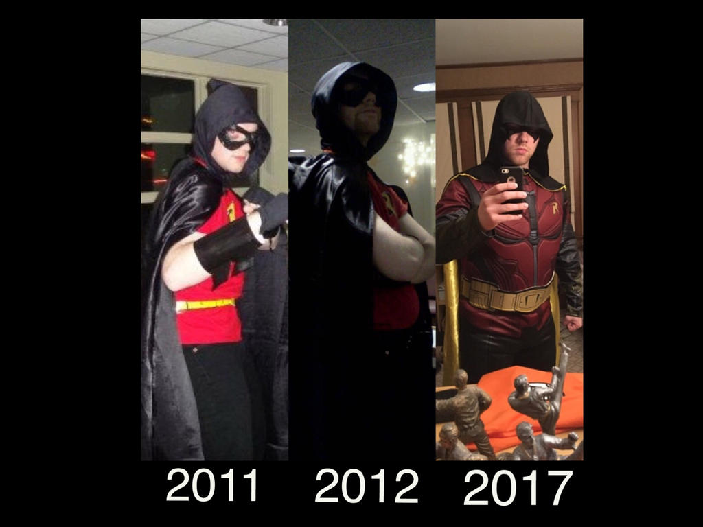 My friend as Robin throughout the years. by Kongzilla2010
