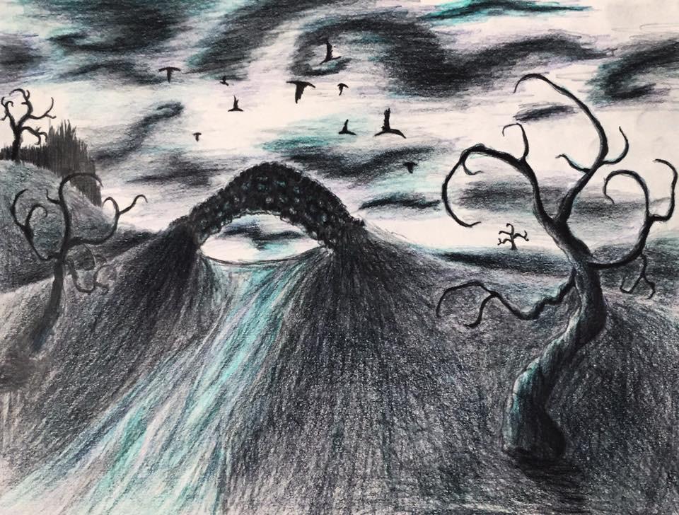 Tim Burton Inspired Drawing (Mainly Corpse Bride). by Kongzilla2010