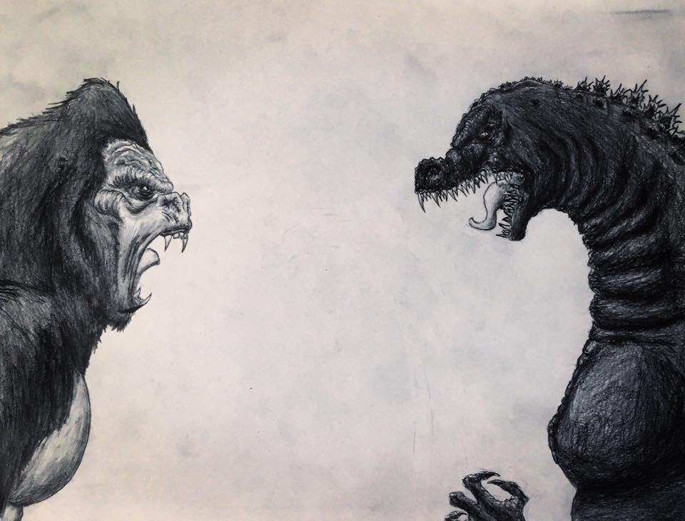 King Kong vs. Godzilla Drawing. by Kongzilla2010