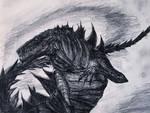 20th Anniversary Tribute Drawing to Godzilla 1998. by Kongzilla2010