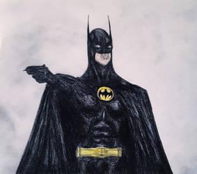 Tim Burton's Batman Sketch. by Kongzilla2010