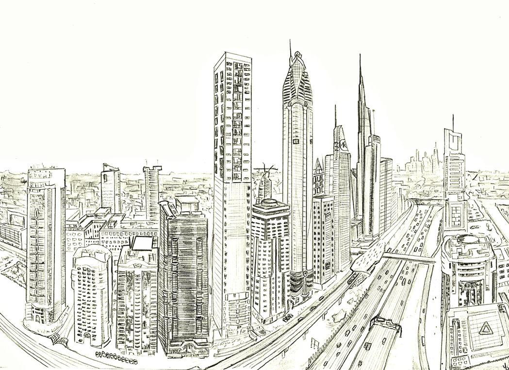 D Painting Exhibition In Dubai : Downtown dubai by nadeonix on deviantart