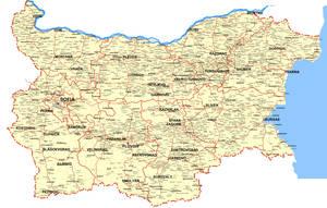 Detailed Bulgarian Map by Wearwolfaa