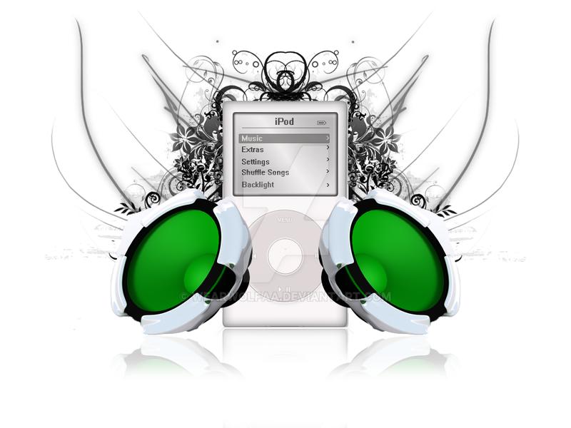 iPod Wallpaper by Wearwolfaa