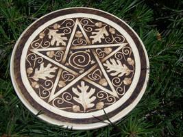 Oak and Acorn Pentacle by parizadhe