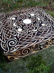 Celtic Moon Cigar Box by parizadhe