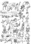 Borgovian sewage ink doodles #2