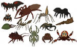 Anatomically plausible fantasy spiders