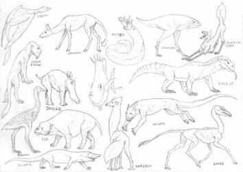 Ballpoint pen creatures