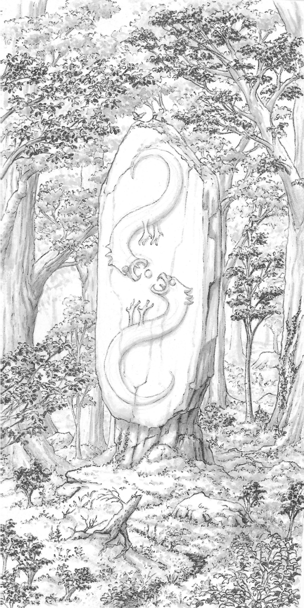 Carved monolith