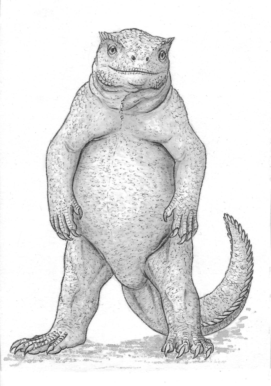 Chunky lizard guy