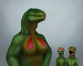 Lizard boobs