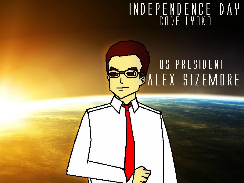 Independence Day: Code Lyoko- President Sizemore by PeaceKeeperd