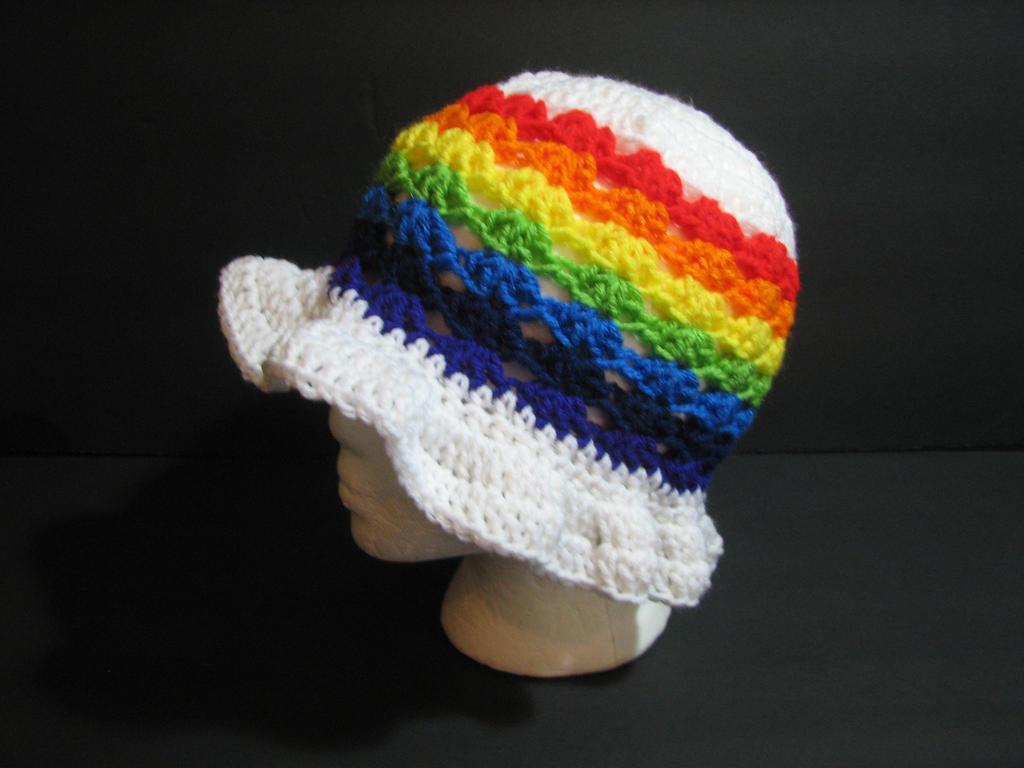 Rainbow Sun Hat by Zaraphena