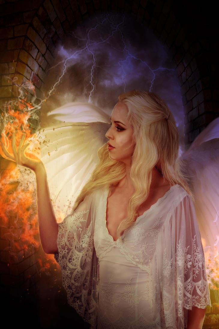 Fire Storm Angel by CelticAngel84