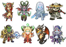 Warcraft Stickers by Novanim
