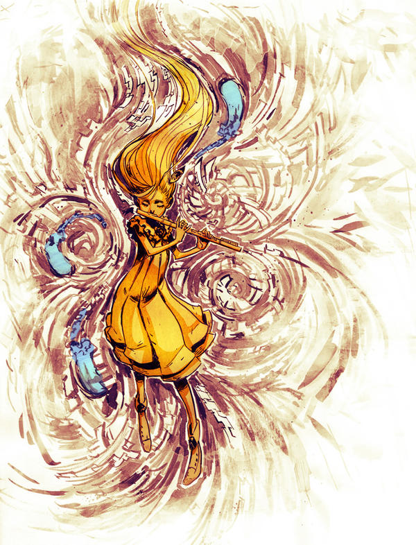 Music bird by Novanim