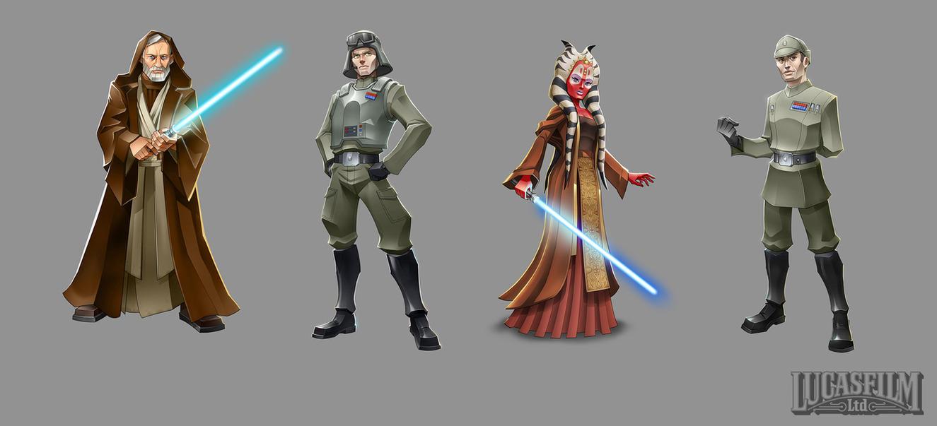 Star Wars Galactic Defense- Characters by Novanim