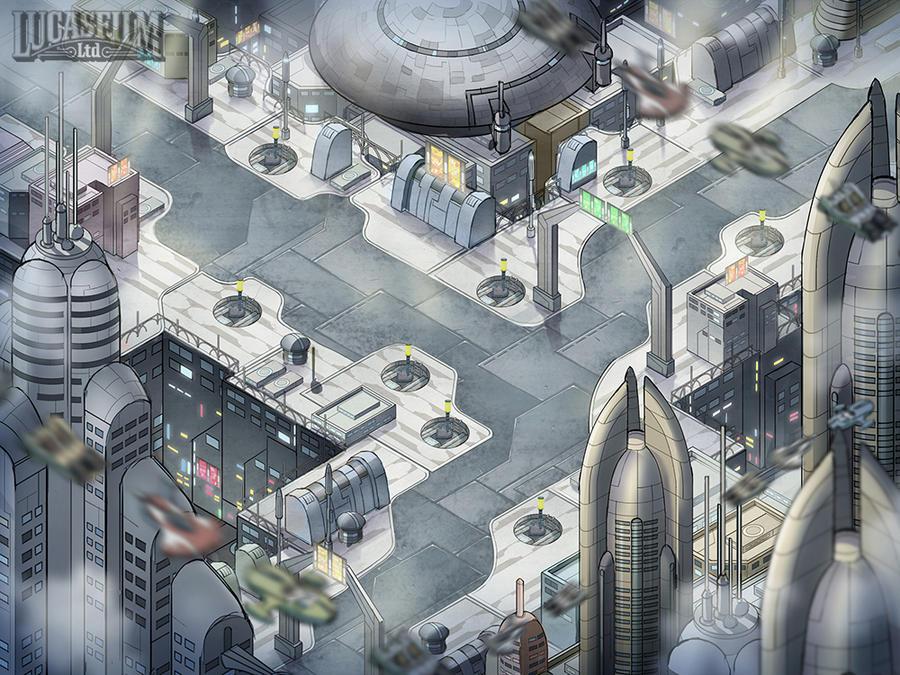 Coruscant Stage- Concept Art by Novanim