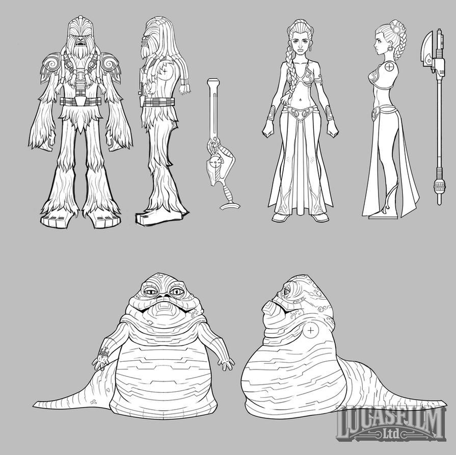 Star Wars Galactic Defense- Character Concepts by Novanim