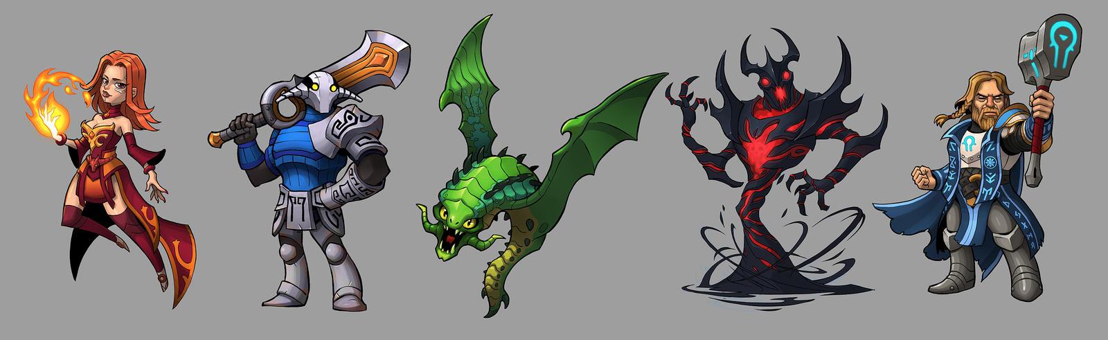 commission dota 2 heroes by novanim on deviantart