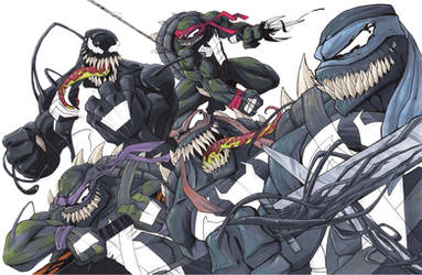 TMNT Symbiotes by justinprime