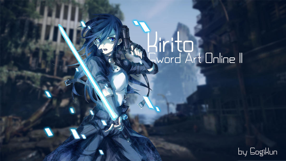 Sword Art Online II - Kirito Wallpaper by SogiKun on ...