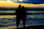 Couple at the beach by nemisis11