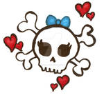 color of girly skull