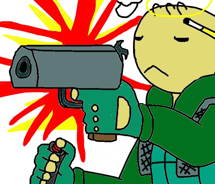 """JuJi: GORE HERO"" For PhiTuS by Artist-Man"