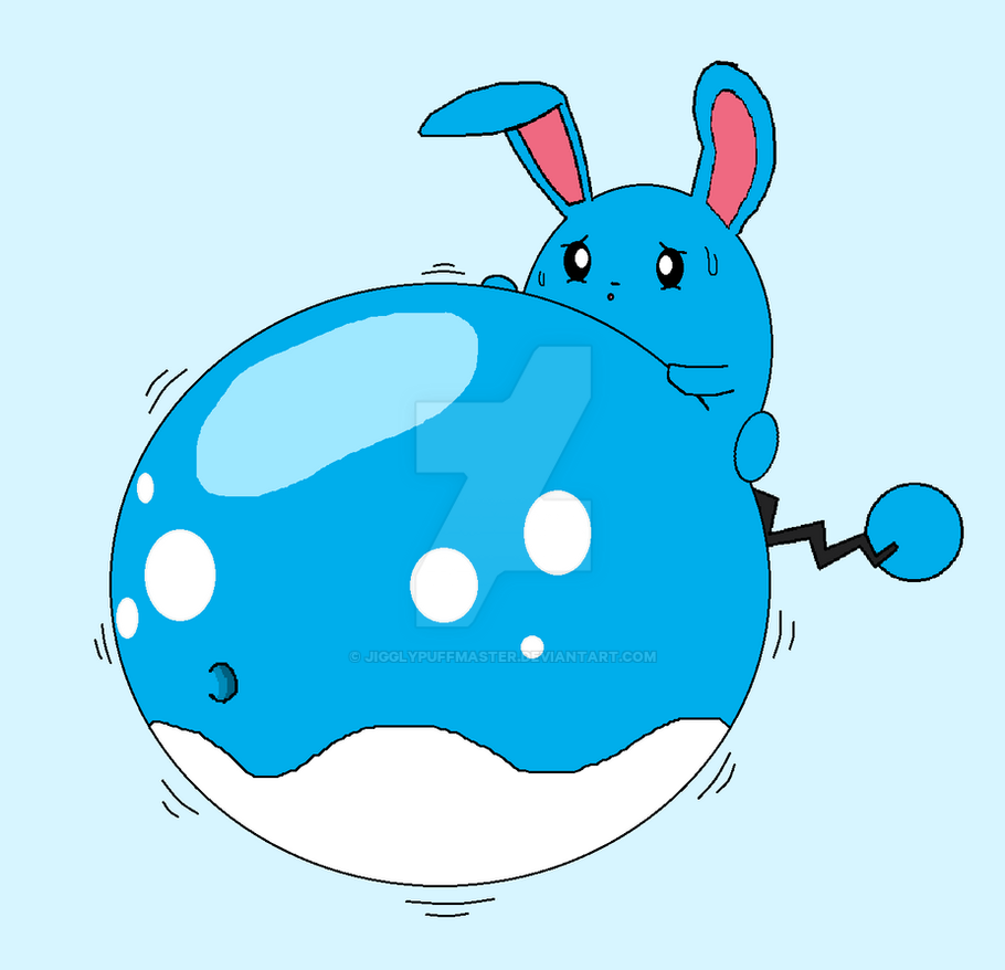 Azumarill Belly Inflation By Jigglypuffmaster On Deviantart