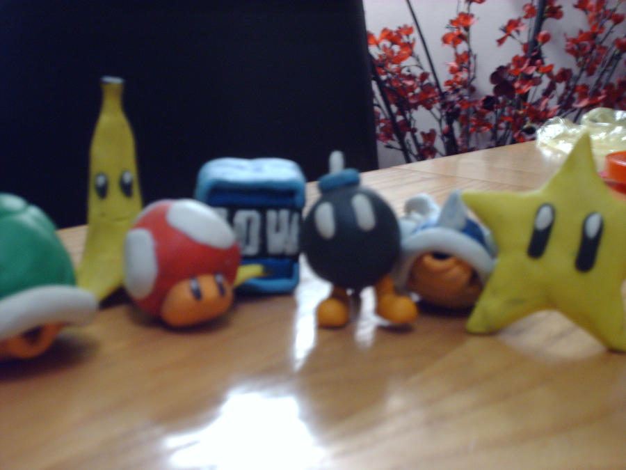 Plasticine Mariokart Wii Items By Nin-mario64 On DeviantArt
