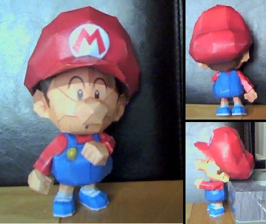 Baby Mario papercraft by nin-mario64