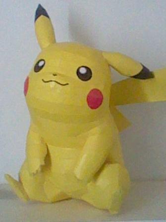 Pikachu Papercraft by nin-mario64