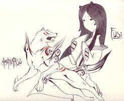 Okami Fanart -- Am. + Fuse by Quemaqua