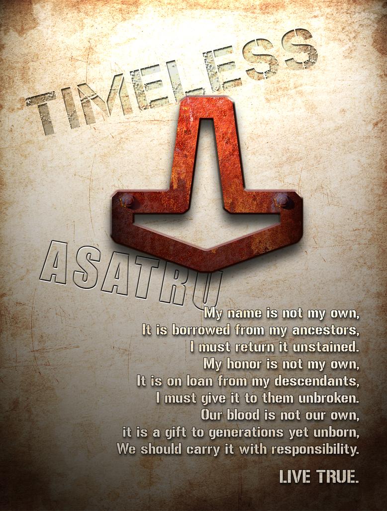 Asatru Grunge Poster by Vikingjack