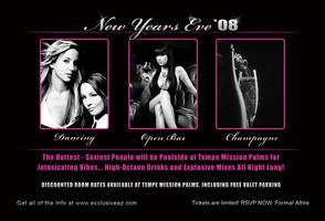 2008 NYE Party Postcard Front by Vikingjack