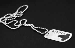 Stainless Steel Asatru Dog Tag by Vikingjack