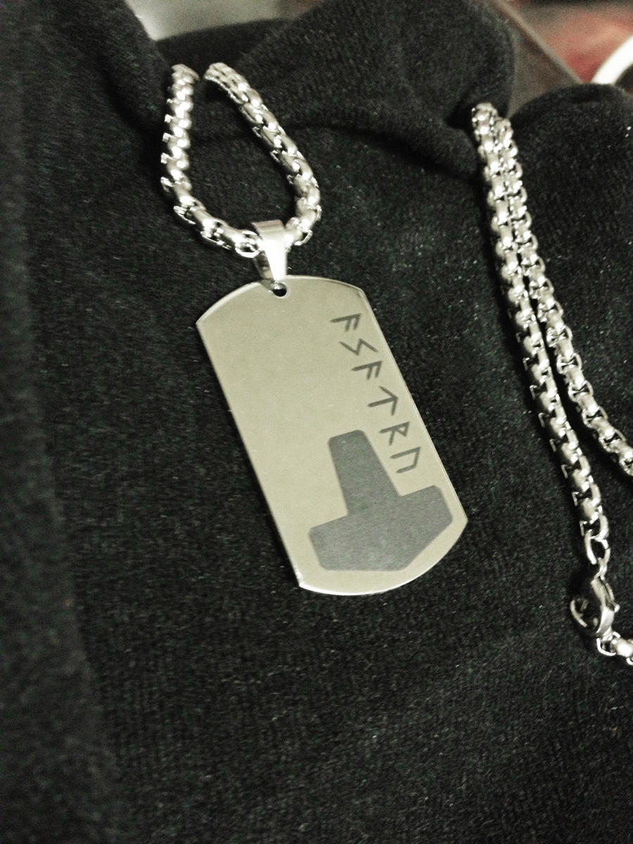 New Stainless Steel Hammer Dog Tag by Vikingjack