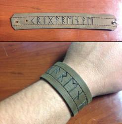 Krigarenve Runic Bracer by Vikingjack