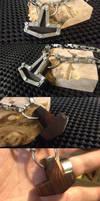 Steampunk Titanium and Ironwood Thors Hammer