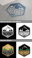 Survival Circle Network Logo Mockup by Vikingjack