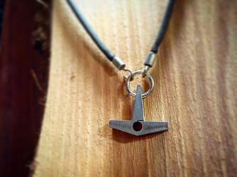 Titanium Leather Heart by Vikingjack