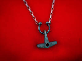 Titanium chained heart hammer