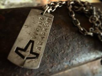 Steel American Heathen Dog tag