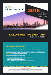 Concentrix Annual Kickoff Meeting Email