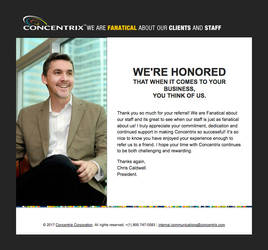 Concentrix President Thank Email