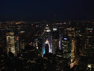 Times Square Night Scene by rockstararts
